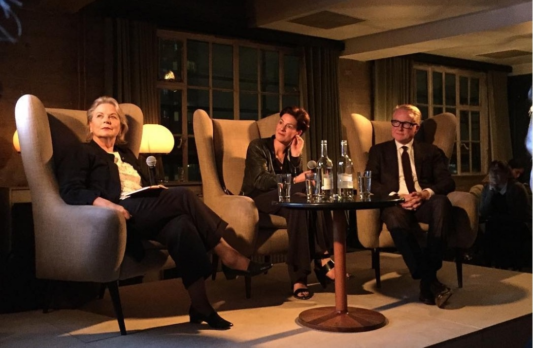 Anna Somers Cocks,Beth Greenacre, andDavid Roberts at Shoreditch House, London. Photo by @taniaasbaek, via Instagram.