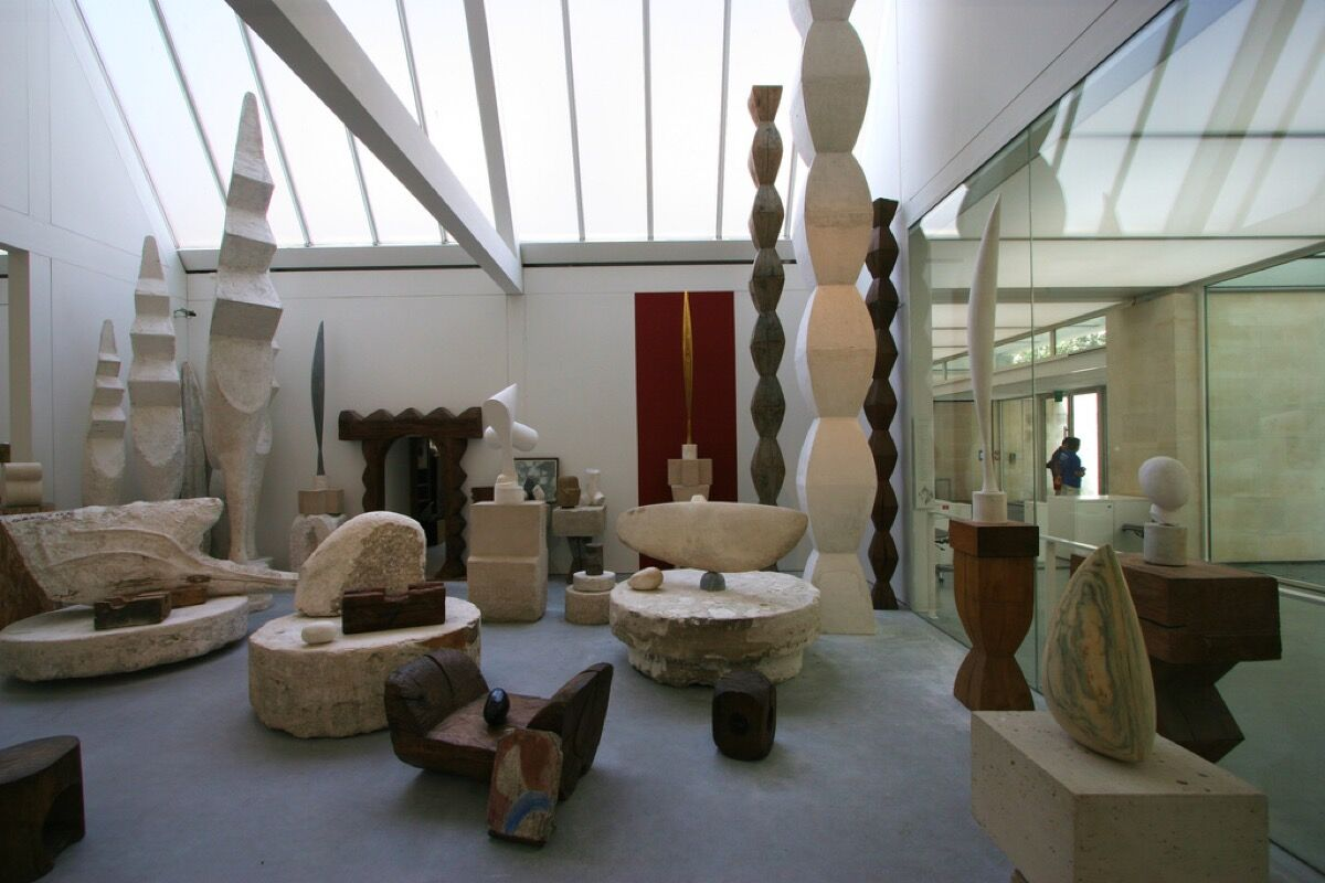 Reconstruction of Constantin Brancusi's studio at the Centre Pompidou. Photo by Piero Sierra, via Flickr.