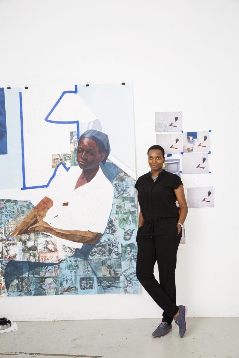 Portrait of Njideka Akunyili Crosby © Brigitte Sire. Photo courtesy of the artist and Victoria Miro, London.