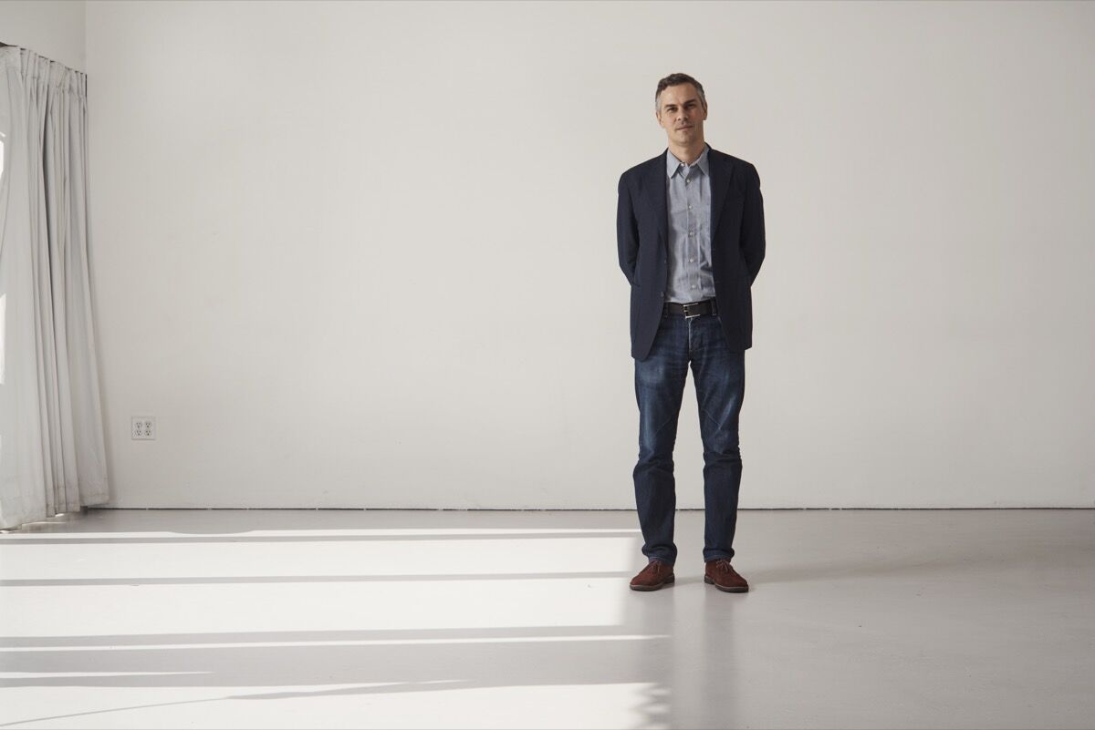 Portrait of Massimiliano Gioni at the New Museum by Alex John Beck for Artsy.