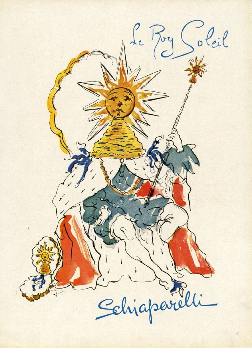 """Le Roy Soleil"" magazine advertisement. ©Salvador Dali. Fundacio Gala-Salvador Dali, Artists Rights Society (ARS), New York 2017/ Collection of the Salvador Dali Museum, Inc., St. Petersburg, FL, 2017."
