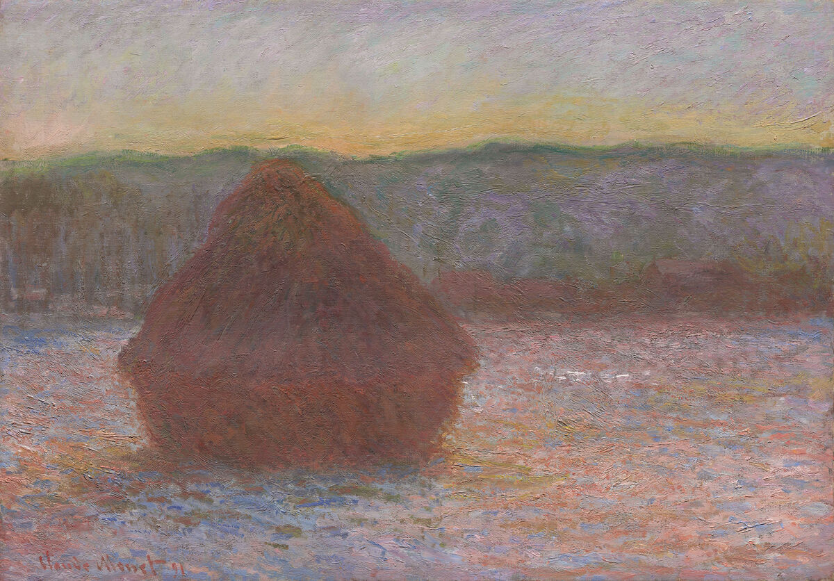 Claude Monet, Stacks of Wheat (Thaw, Sunset), 1890/91. Courtesy of the Art Institute of Chicago.