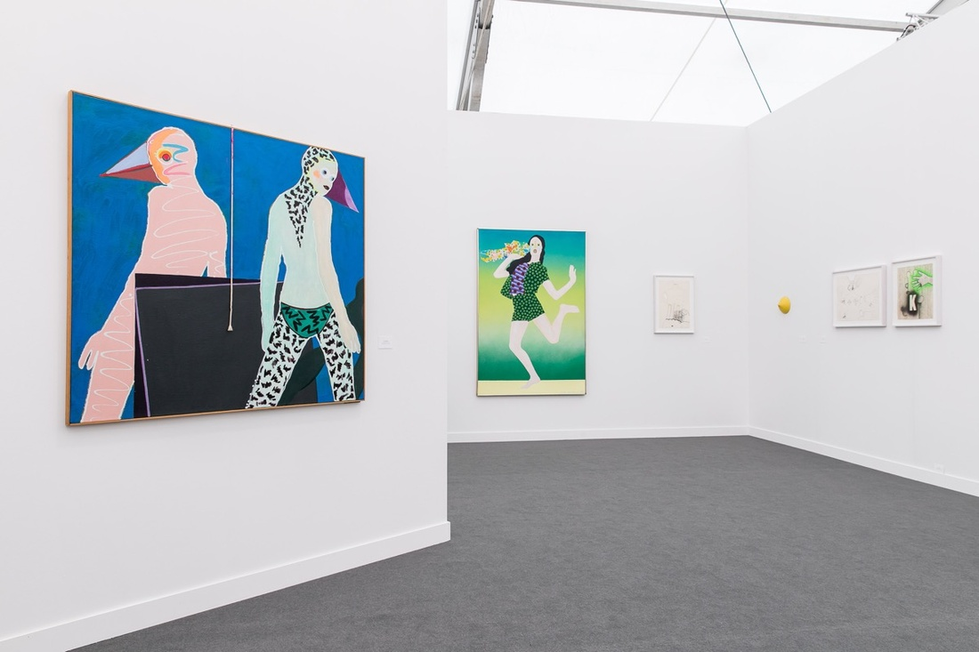 Installation view of Simone Subal's booth at Frieze New York, 2017. Photo by Mark Blower, courtesy of Frieze.