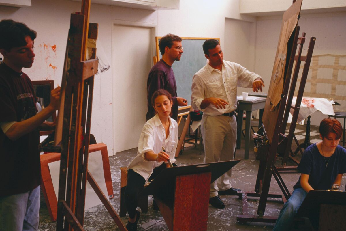 Art class at Pomona College, 1998. Photo by David Butow/Corbis via Getty Images.
