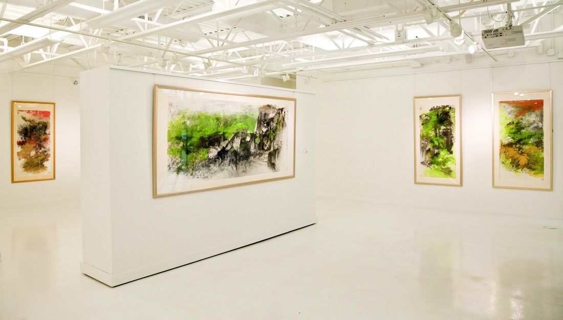 "Installation view of ""Hou Beiren at 100"" at NanHai Art, Millbrae, California. Courtesy of NanHai Art and the artist."