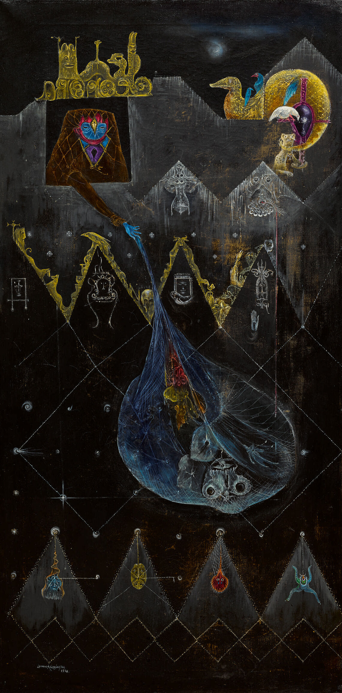 Leonora Carrington, The Dark Night of Aranoë, 1976. © 2018 Estate of Leonora Carrington / Artists Rights Society (ARS), New York. Courtesy of Sotheby's.
