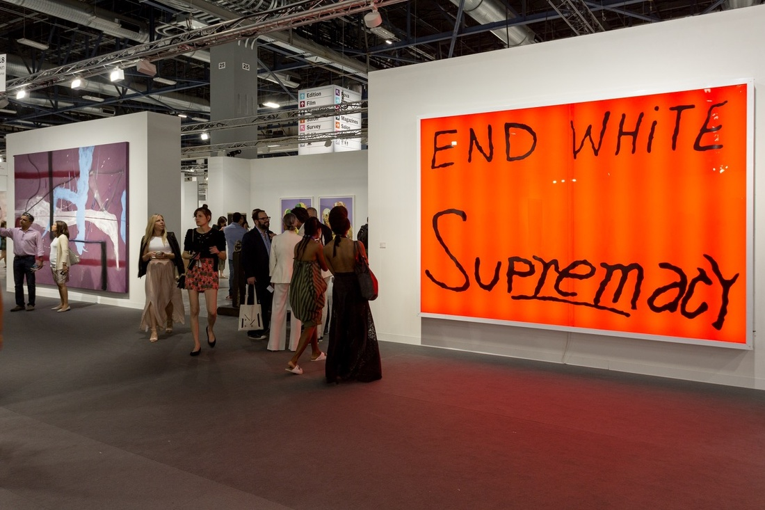 Installation view of Blum & Poe's booth at Art Basel in Miami Beach, 2016. Photo by Alain Almiñana for Artsy.