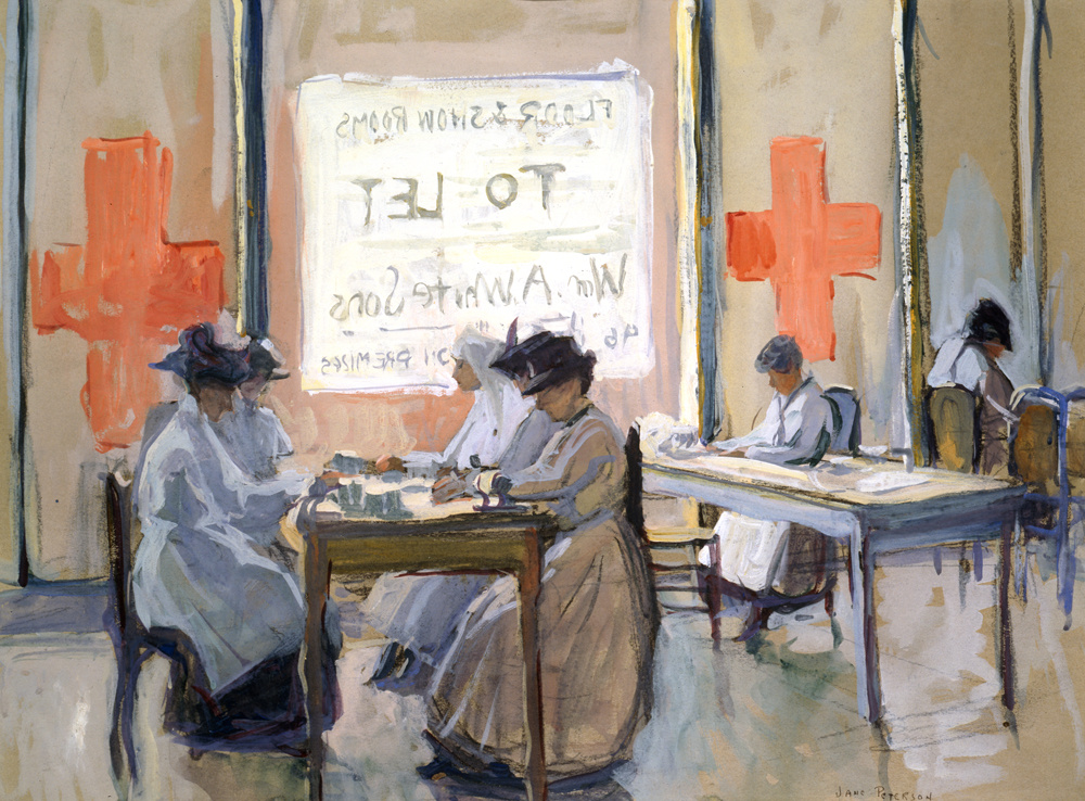 Jane Peterson, Red Cross Work Room 5th Avenue, NYC during the War, c. 1917. Collection of Jonathan L. Cohen. Image courtesy of New York Historical Society.