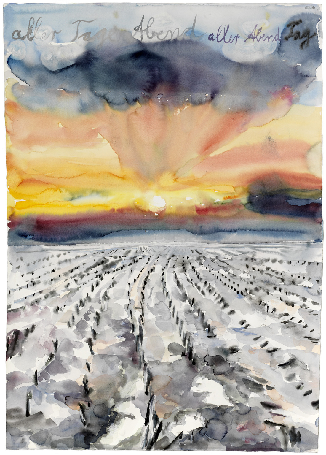 Anselm Kiefer, aller Tage Abend, aller Abende Tag (The Evening of All Days, the Day of All Evenings), 2014. © Anselm Kiefer. Photo © Charles Duprat. Courtesy of Gagosian.