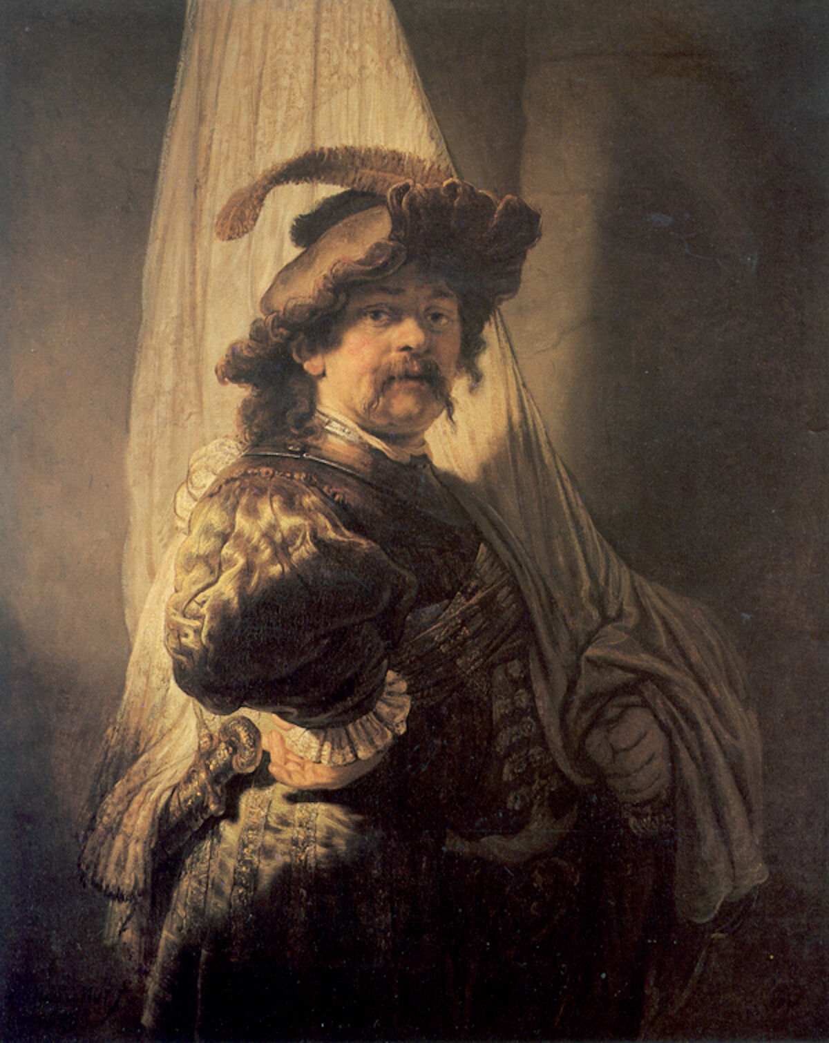 Rembrandt, The Standard Bearer, 1636. Via Wikimedia Commons.