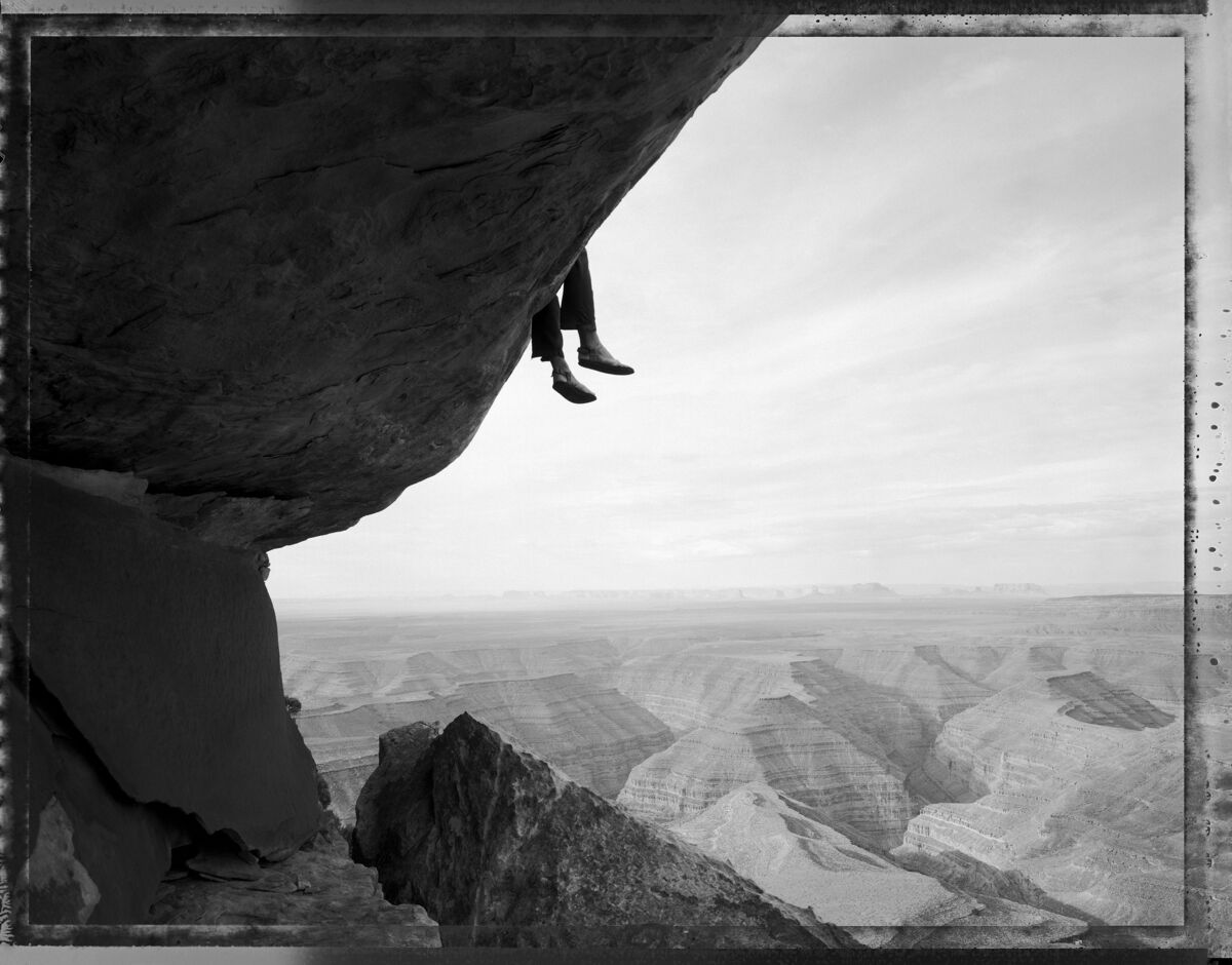 Mark Klett, Contemplating the view at Muley Point, Utah, 1994. Courtesy of Amon Carter Museum of American Art.