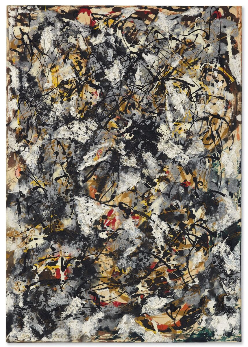 Jackson Pollock, Composition with Red Strokes, 1950. Courtesy of Christie's