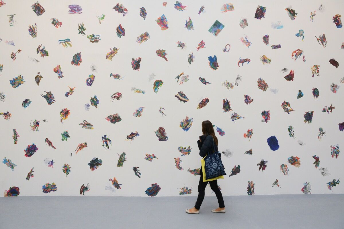 "Installation view of work by Edi Rama in ""Viva Arte Viva"" at the 57th Venice Biennale, 2017. Photo by Casey Kelbaugh for Artsy."