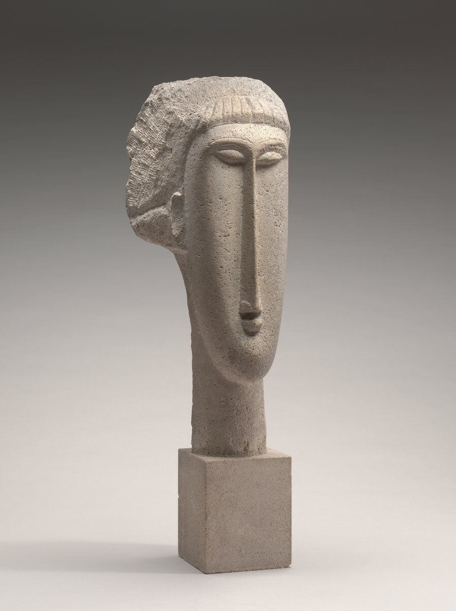 Amedeo Modigliani, Head of a Woman, 1910/11. Courtesy of the National Gallery of