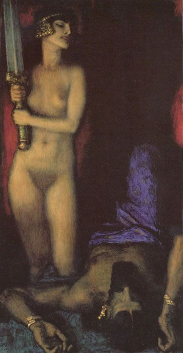 Franz Stuck, Judith, 1928. Image via Wikimedia Commons.