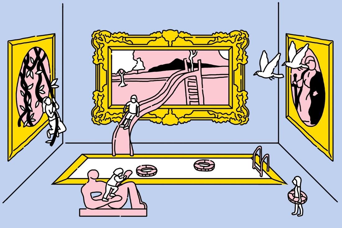 Illustration by Jan Buchczik for Artsy.