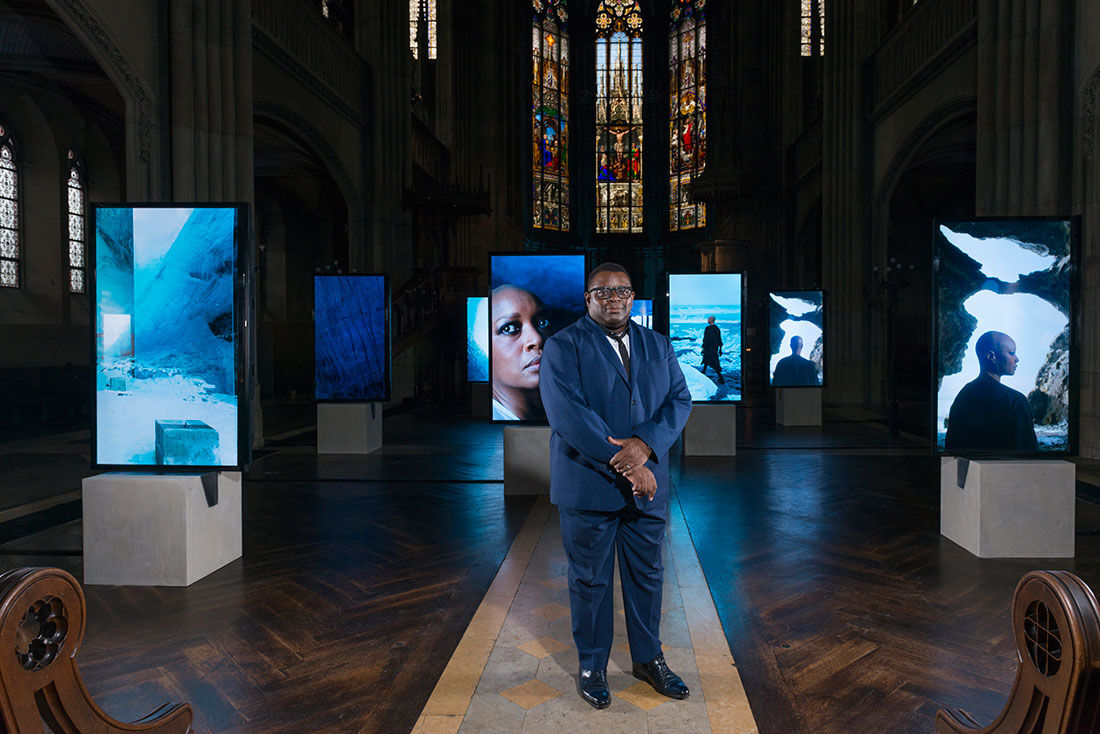 Installation View, Isaac Julien, Stones Against Diamonds (2015). Photo: Harold Cunningham.