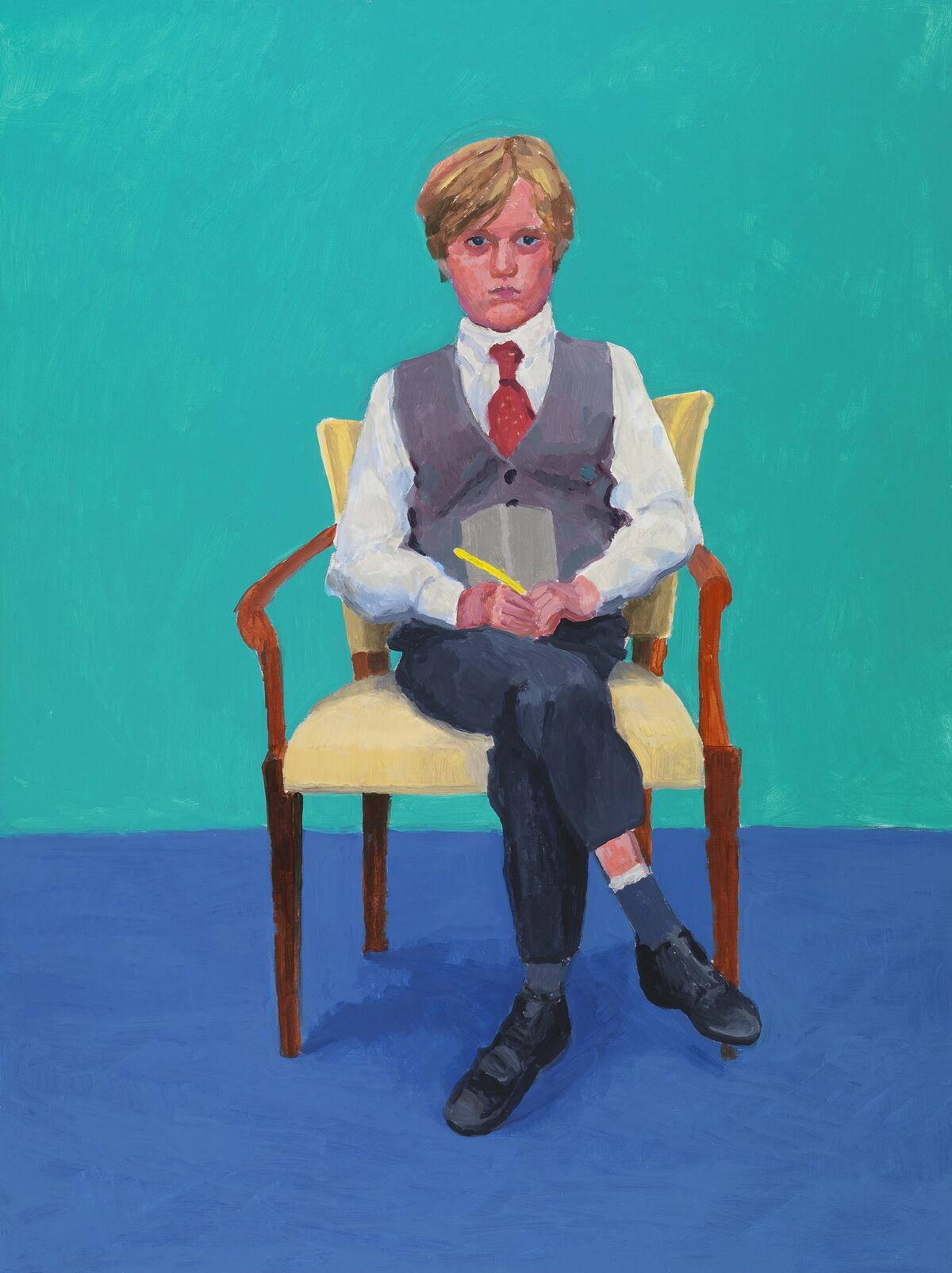 "David Hockney, Rufus Hale, 23rd, 24th, 25th November 2015, 2015, from ""82 Portraits and 1 Still-life"" © David Hockney. Photo by Richard Schmidt. Courtesy of the Los Angeles Museum of Art."