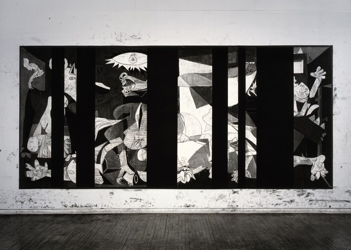 Robert Longo,Untitled (Guernica Redacted, After Picasso's Guernica, 1937), 2014. Courtesy of the artist and Galerie Thaddaeus Ropac, London, Paris, Salzburg.