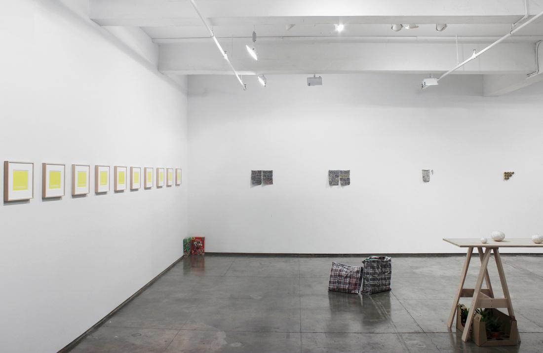 "Installation view of ""Stefana McClure: The Siege of Flying Mermaids"" at Josée Bienvenu, New York. Courtesy of Josée Bienvenu and the artist."