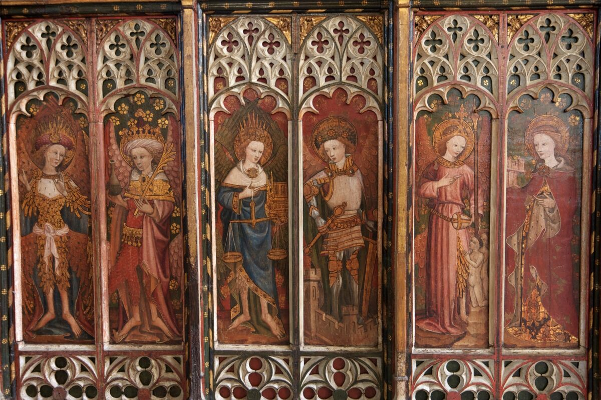Barton Turf Rood Screen. Photo by Peter Austin, via Flickr.