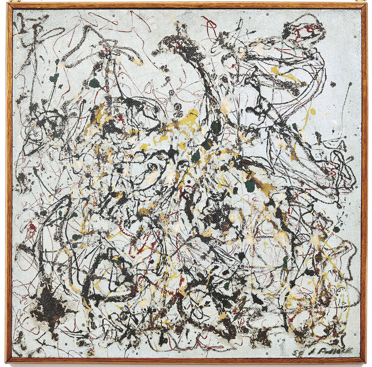 Jackson Pollock, Number 16, 1950, oil on masonite. Image courtesy Phillips.