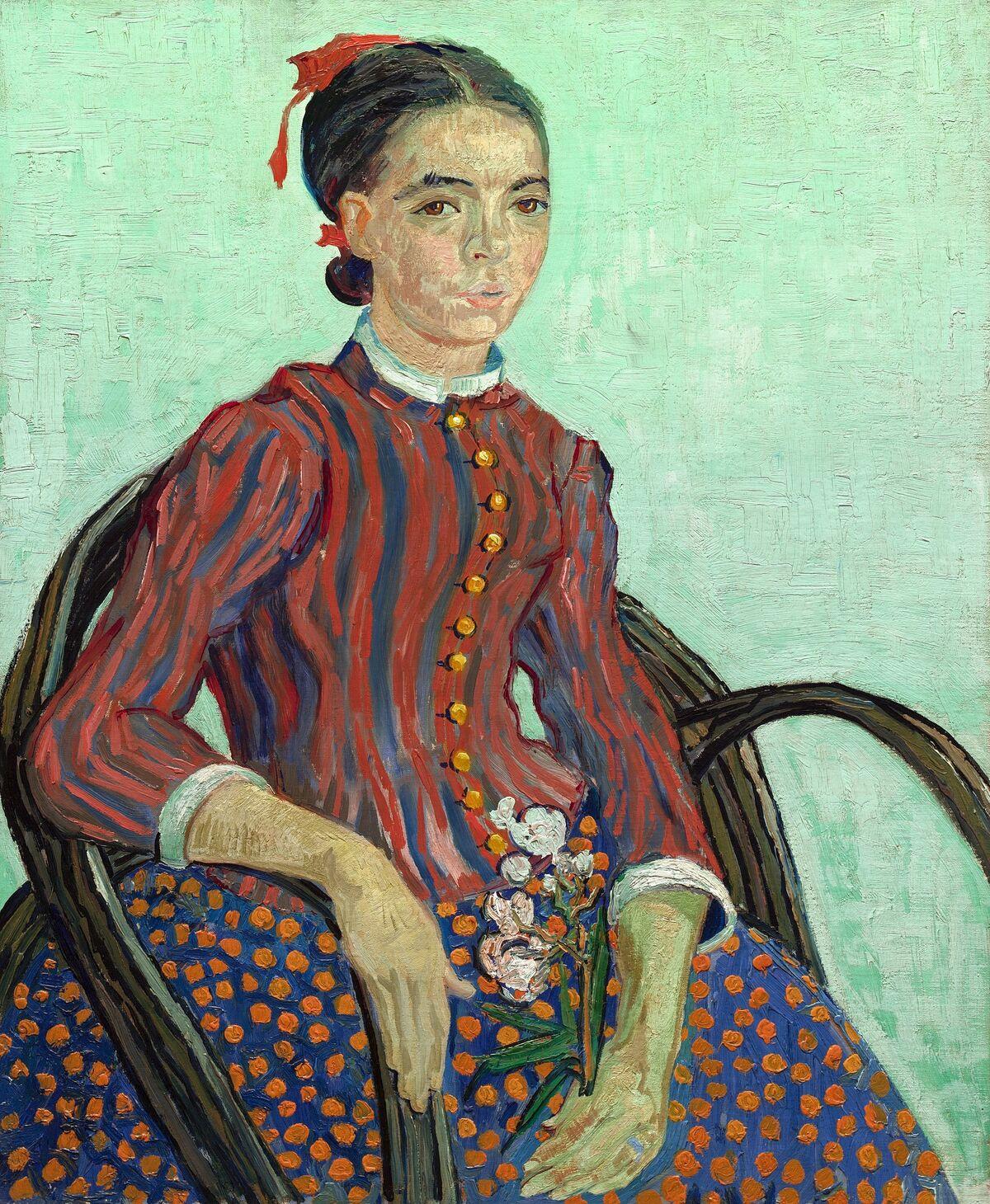 Vincent van Gogh, La Mousmé, 1888. Image via Wikimedia Commons.