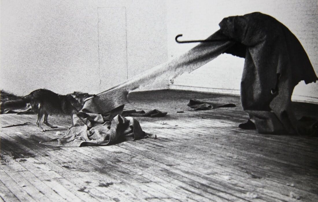 Joseph Beuys, I Like America and America Likes Me, 1974. © Joseph Beuys.