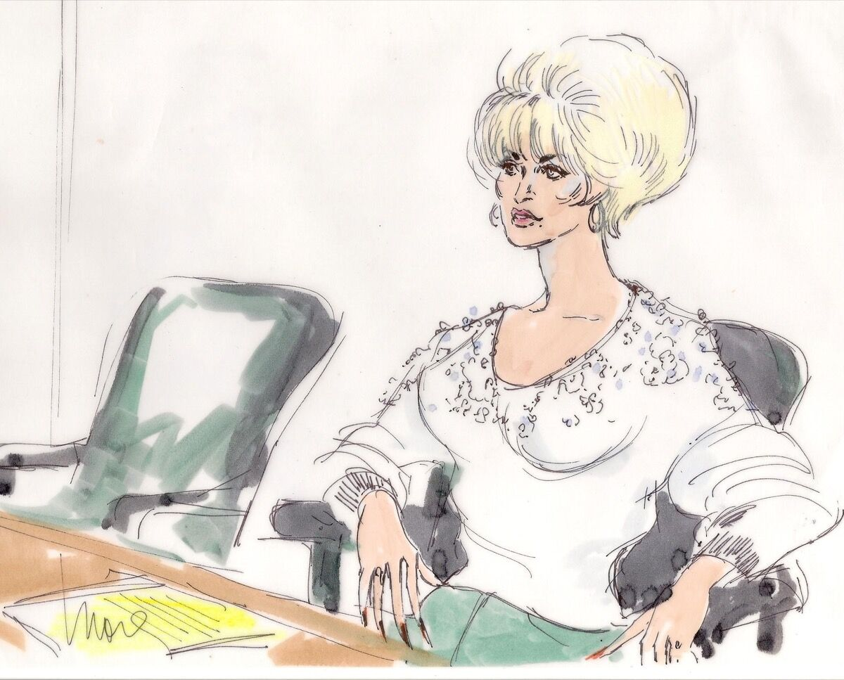 Illustration of Dolly Parton by Mona Shafer Edwards.