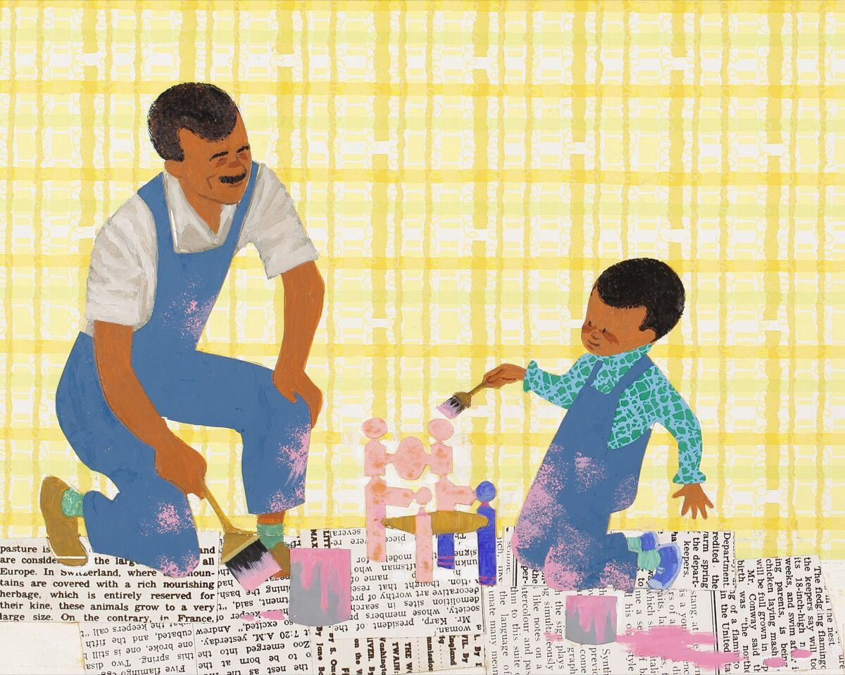 Illustration from Ezra Jack Keats's Peter's Chair, 1967. Courtesy of the Ezra Jack Keats Foundation.