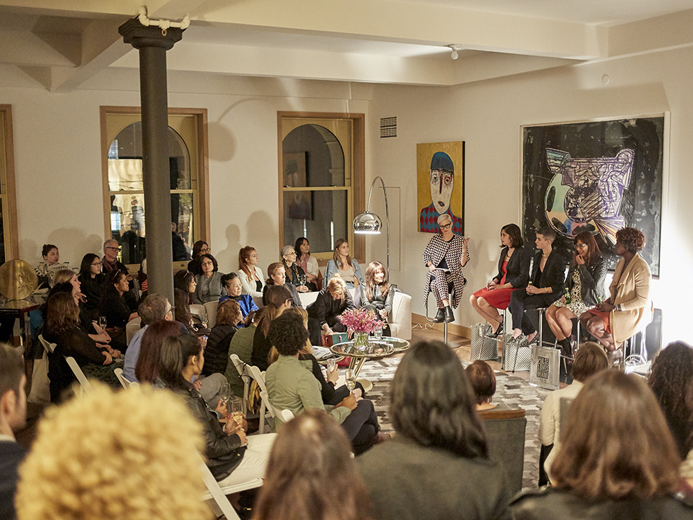 Panel discussion hosted by PULSE. Panelists included artnet News Associate Editor, Sarah Cascone; Justine Ludwig,Director of Exhibitions and Senior Curator at Dallas Contemporary; Marina Garcia-Vasquez, Editor-in-Chief, Creators Project; and Bahia Ramos, Director of the Knight Foundation.