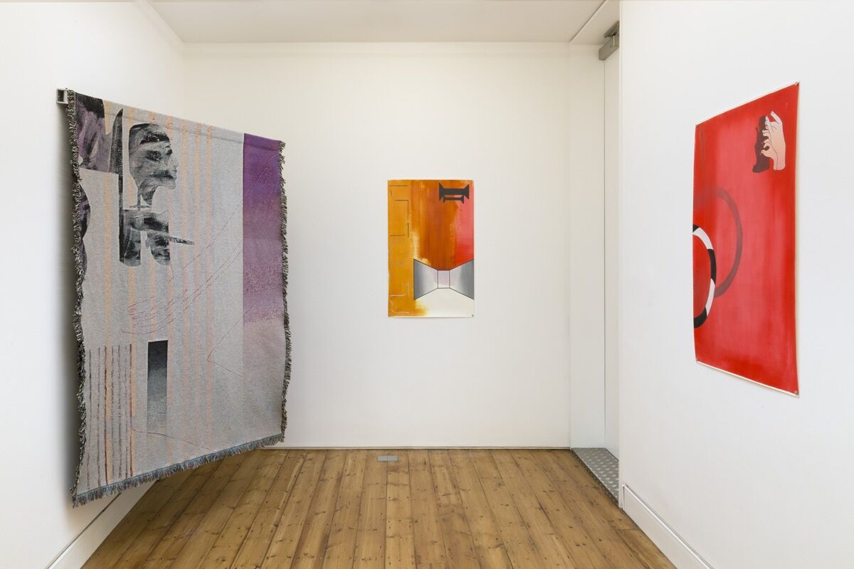 Installation view of works by Sonia Almeida at The Approach, London. Courtesy of the artist, The Approach, London & Simone Subal Gallery, New York.