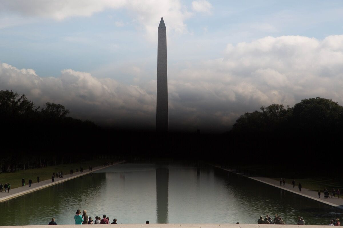 Nona Faustine, Liberty or Death, Sons of Africa, Washington Monument, 2016. Image courtesy of the artist.