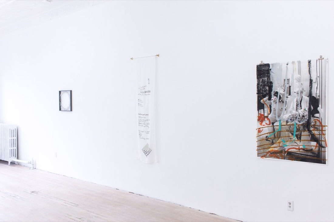 """Installation view of """"It Started with a Rose"""" courtesy of315 Gallery."""