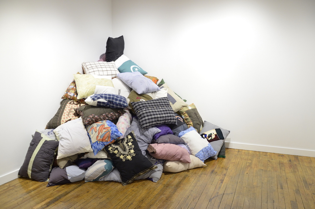 DÍAZ LEWIS34,000 Pillows, (2016 – ongoing). Pillows comprised of used and donated clothing. Approximately 20 X 27 inches each.