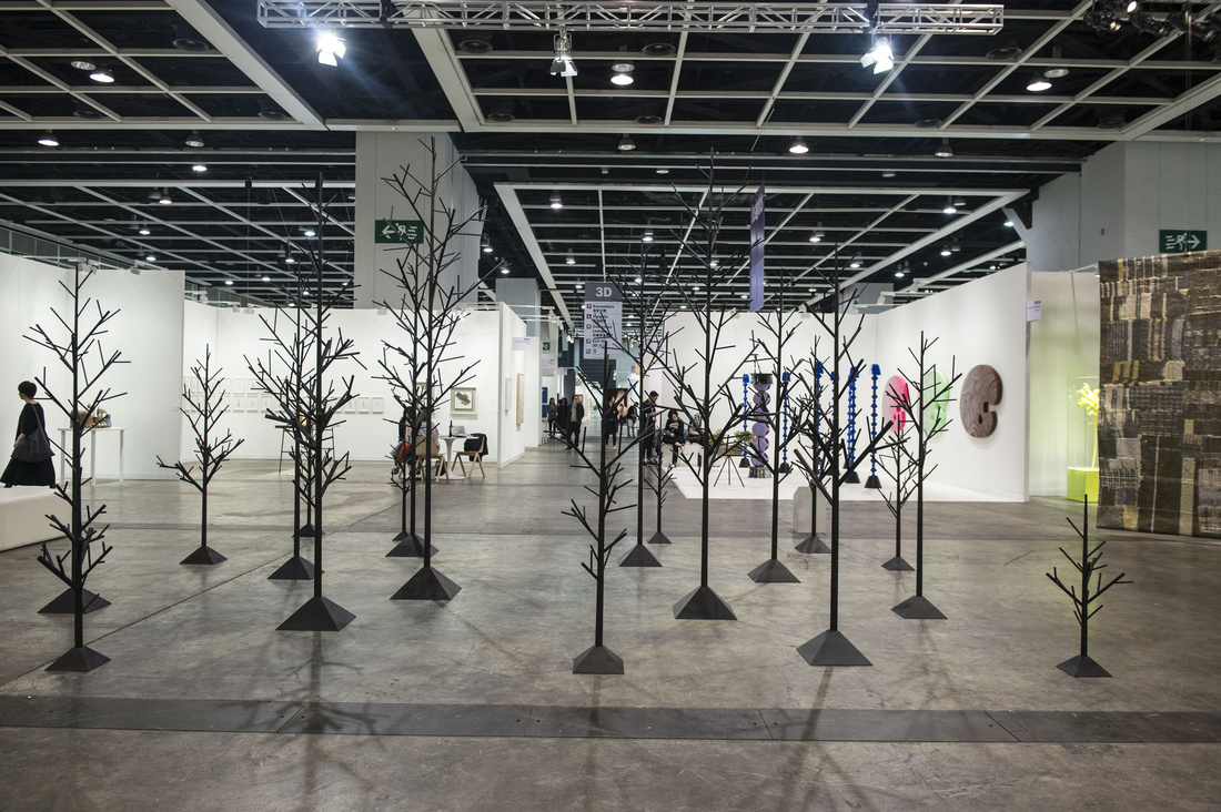 Installation view of Ingleby's booth at Art Basel in Hong Kong, 2016. Courtesy of the fair.