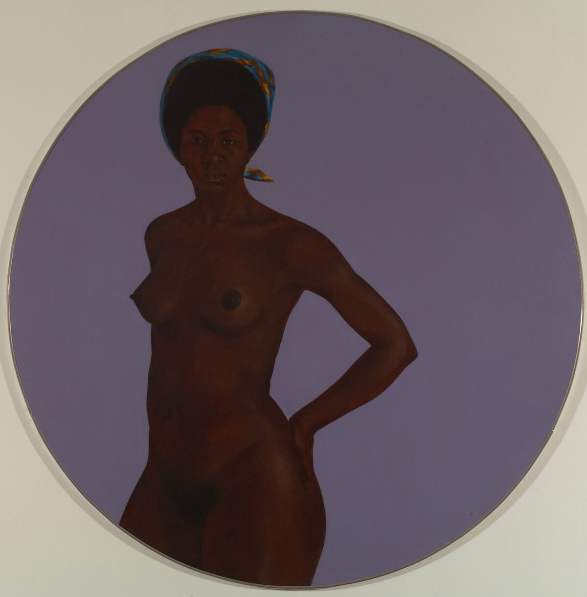 Barkley L. Hendricks, Sister Lucas, ca. 1975. Courtesy of Bowdoin College Museum of Art
