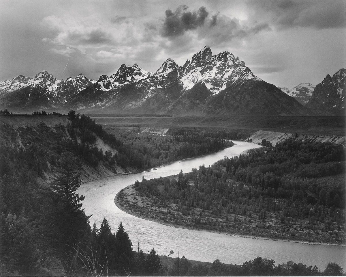 Ansel Adams, The Tetons and the Snake River, Grand Teton National Park, Wyoming, 1942. Courtesy of the U.S. National Archives (Records of the National Park Service).