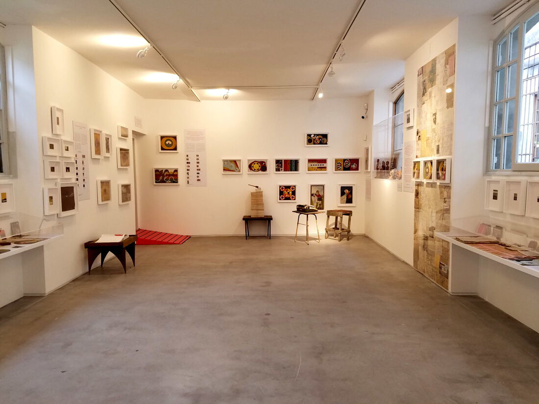 "Installation view of ""Frank Walter: The Last Universal Man 1926-2009"" on view at the Pavilion of Antigua and Barbuda at the Venice Biennale, 2017."