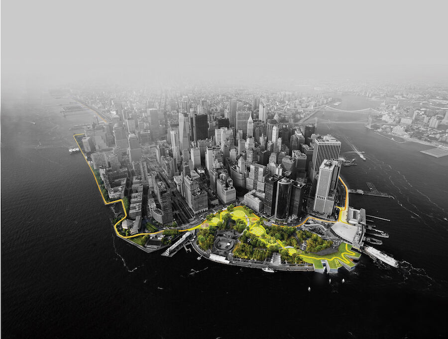 Bjarke Ingels Group, The Dryline. Courtesy of Bjarke Ingels Group.