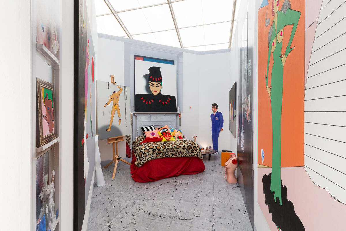Installation view of The Modern Institute's booth at Frieze London, 2018. Courtesy of the gallery.