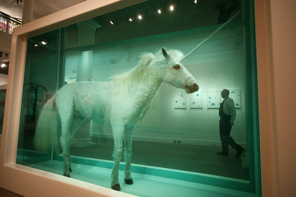 Damien Hirst, The Dream, 2008. Photo by Peter Macdiarmid/Getty Images.