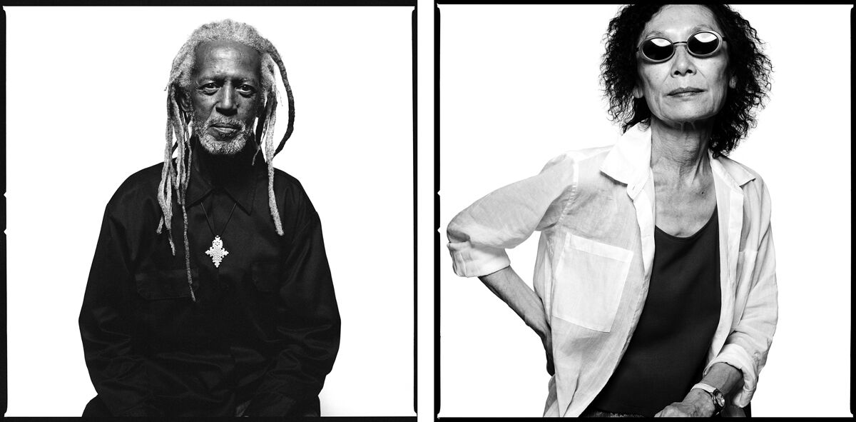 "Left: Ronald ""Elder"" Freeman; Right: Christine Choy. Photographs by Bryan Shih, 2011–2015, courtesy of the artist and Queens Museum."