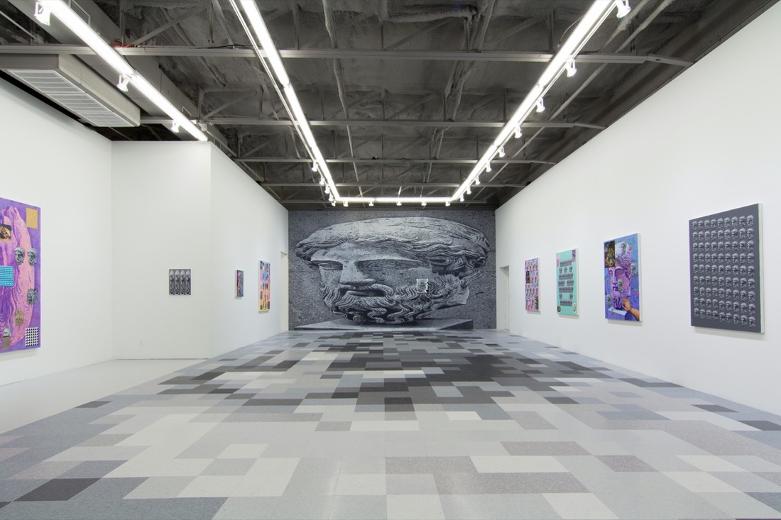 "Installation view of ""Marble Head from a Herm"" at Circuit 12 Contemporary, 2016. Courtesy of the artist."