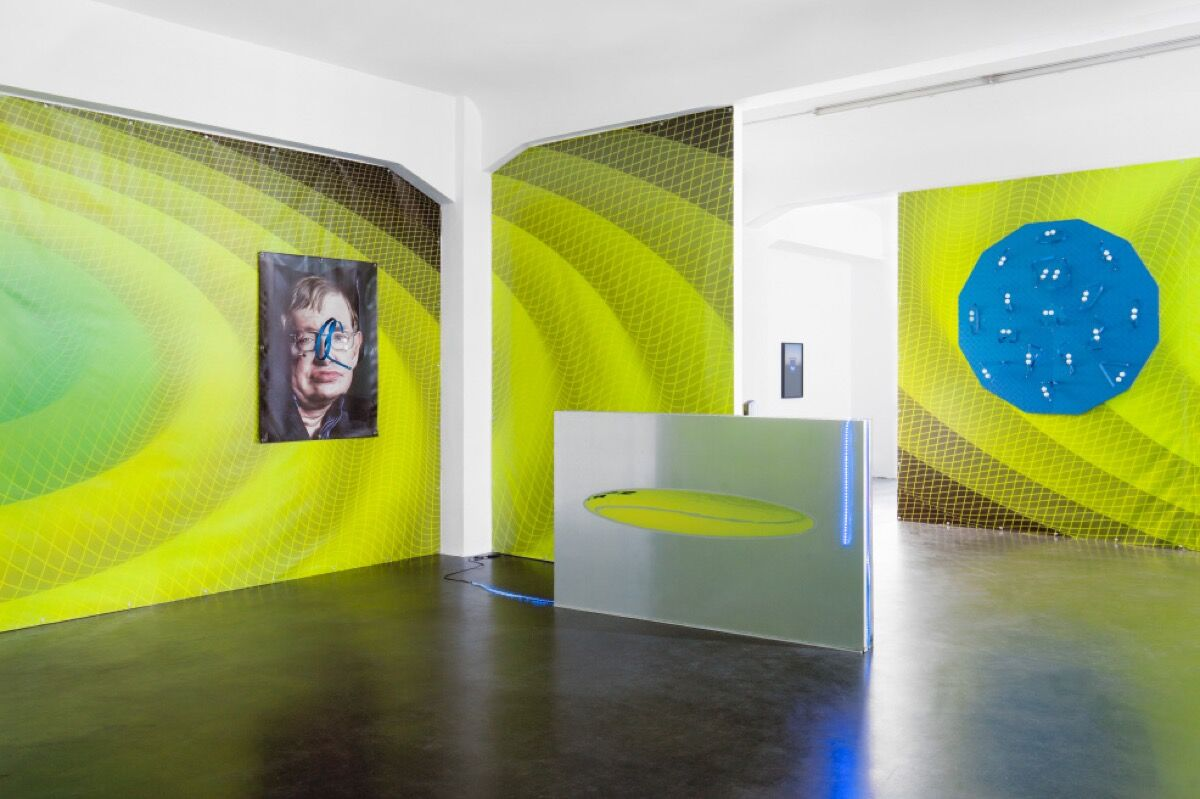 "Installation view of ""Luca Pozzi: Discovery and Premonitions"" at Alexander Levy, Berlin. Photo courtesy of Alexander Levy."
