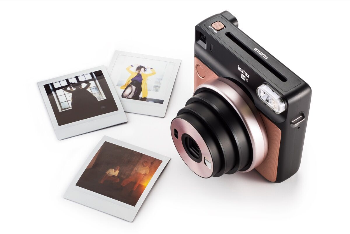 Product shot of Fujifilm Instax Square SQ6. Courtesy of Fujifilm.