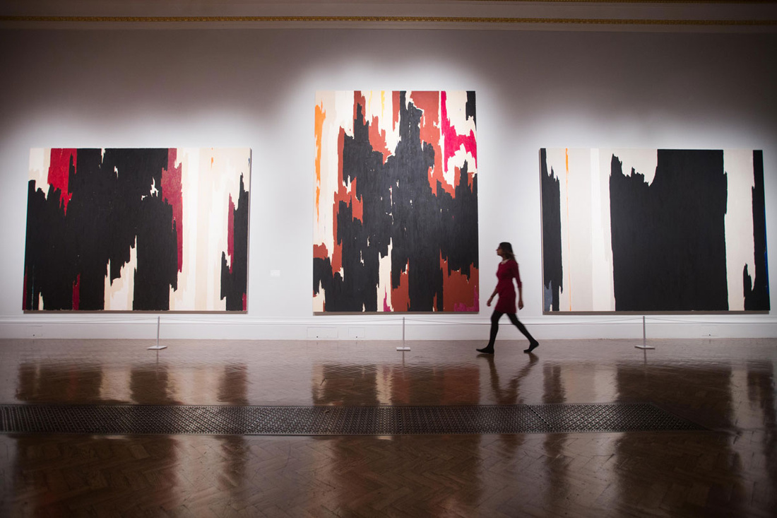 Installation view of work by Clyfford Still at the Royal Academy of Arts, London.© David Parry/ Royal Academy of Arts.