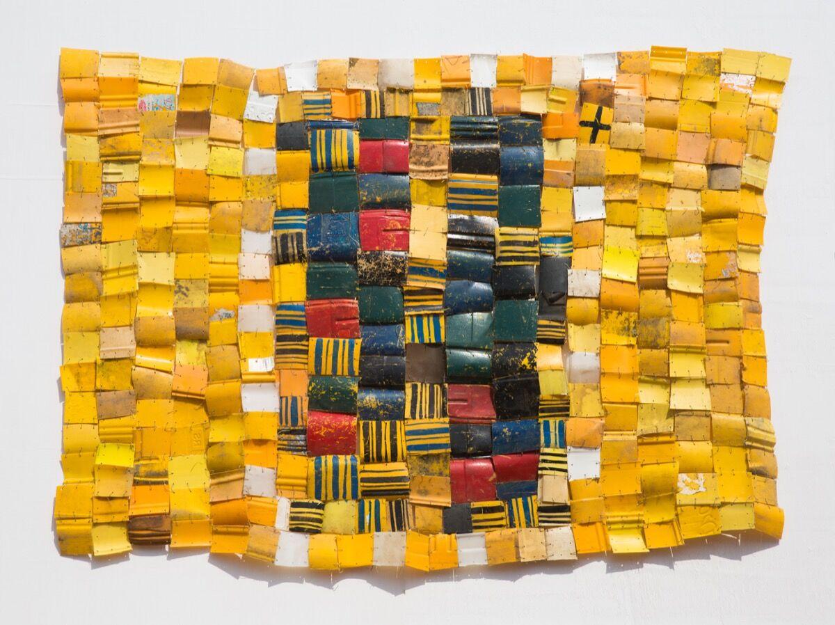 Serge Attukwei Clottey, My Hood, 2016. Courtesy of Galerie1957.