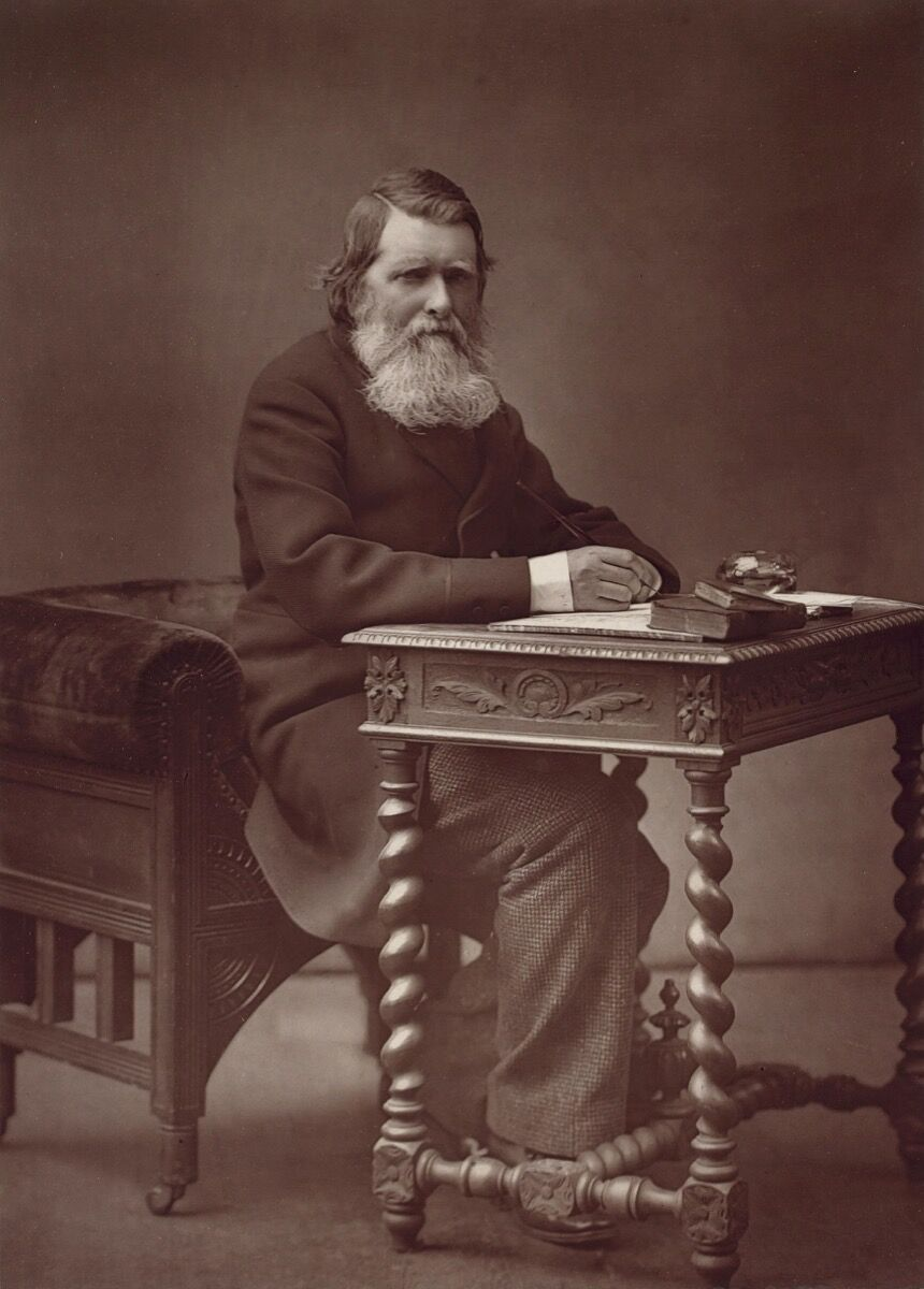 Herbert Rose Barruad, Portrait of John Ruskin, 1882. Image via Wikimedia Commons.