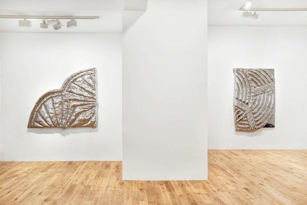"Installation view of ""Steel Life Crisis,"" courtesy of Almine Rech Gallery"